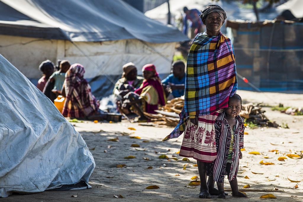 Campo de deslocados em Pemba, Cabo Delgado