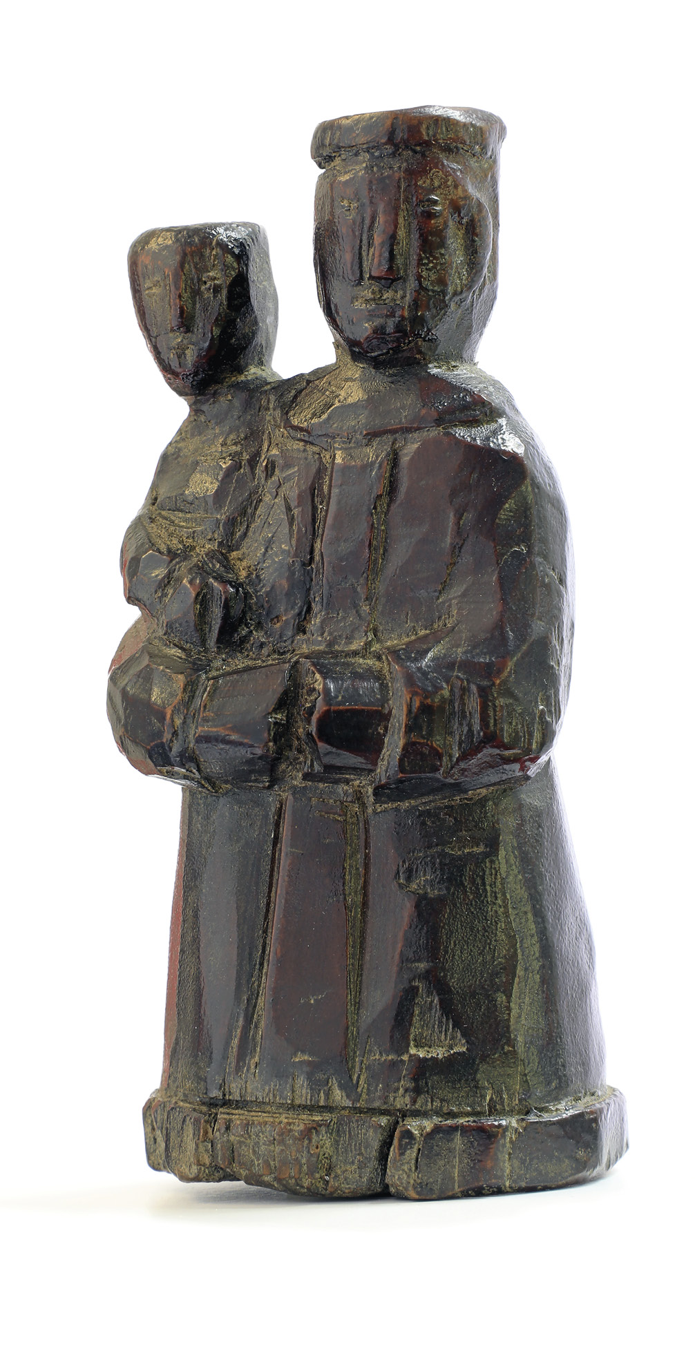 Santo António com o Menino Jesus, Escultura, 9,5 cm altura, c. 1830, Nó de Pinho, MLSA.ESC.0242