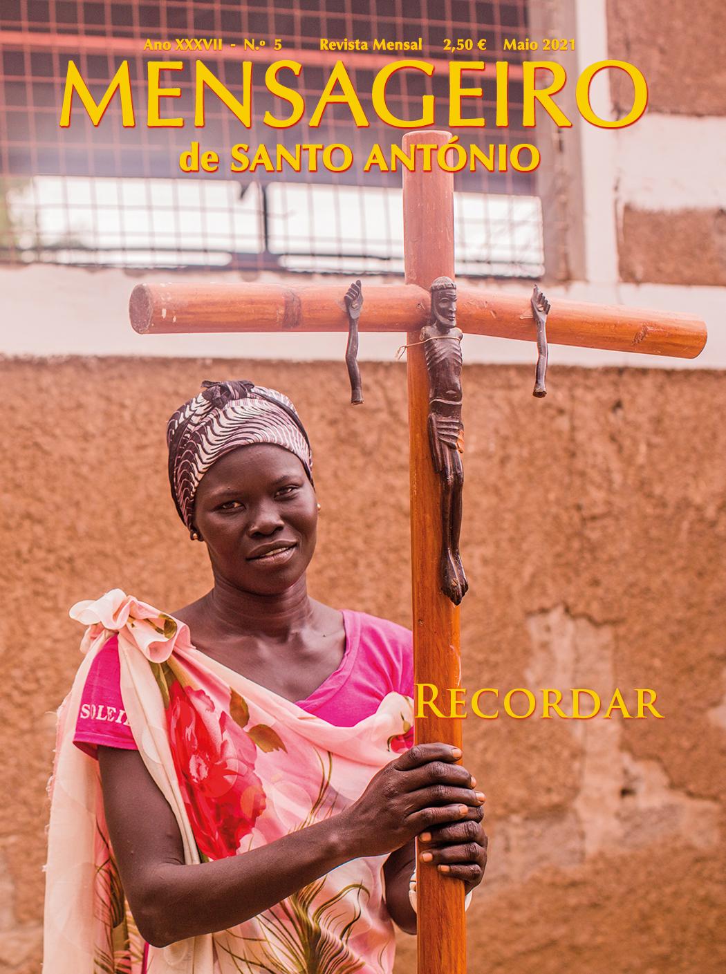 Capa da edição de maio 2021 da revista Mensageiro de Santo António - RECORDAR