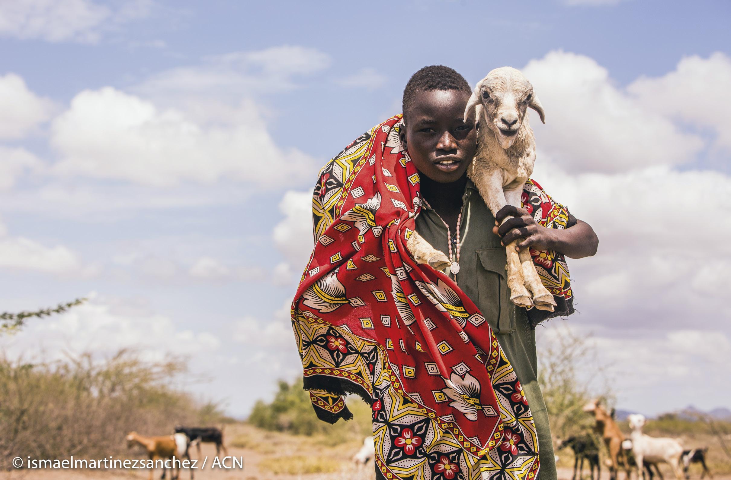 Foto Ismael Martínez Sánchez / ACN. Campo de refugiados Kakuma, Quénia, junto ao Sudão do Sul e à Etiópia, 2016.