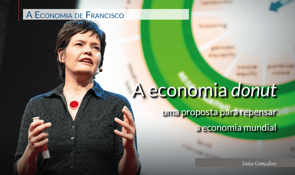 Kate Raworth no TED2018 – A Era do Espanto, Abril 10 – 14, 2018, Vancouver, Canada. Foto: Bret Hartman / TED, in https://energy-cities.eu/.