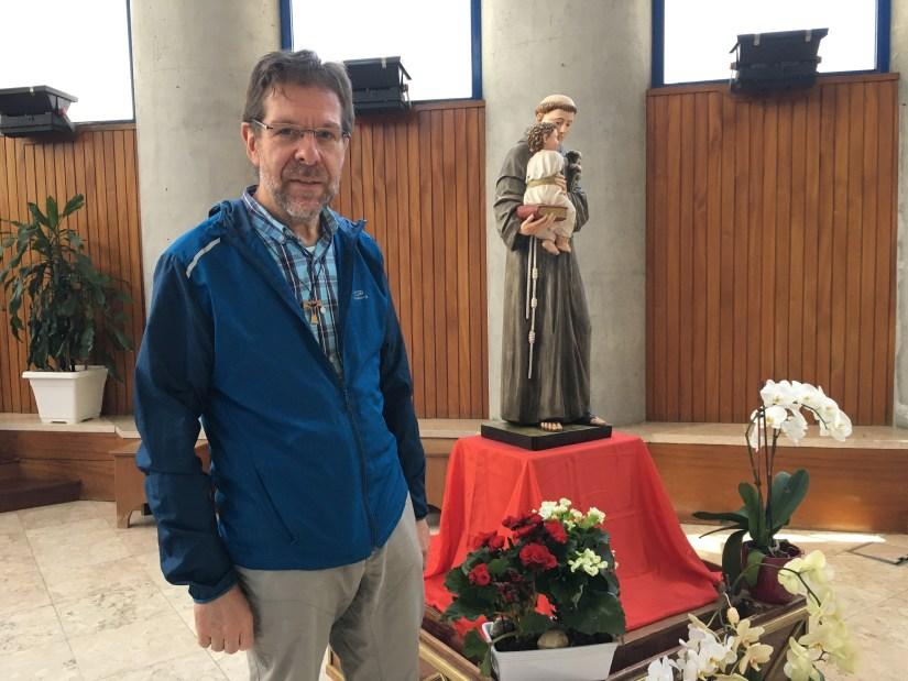 Frei Fabrizio, Igreja de São Maximiliano Kolbe, Chelas, Lisboa. Foto Filipe Teixeira, Voz da Verdade, 2021.