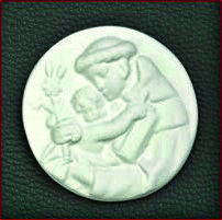 Fig 3 - Medalhão de Santo António com O Menino, de molde conventual