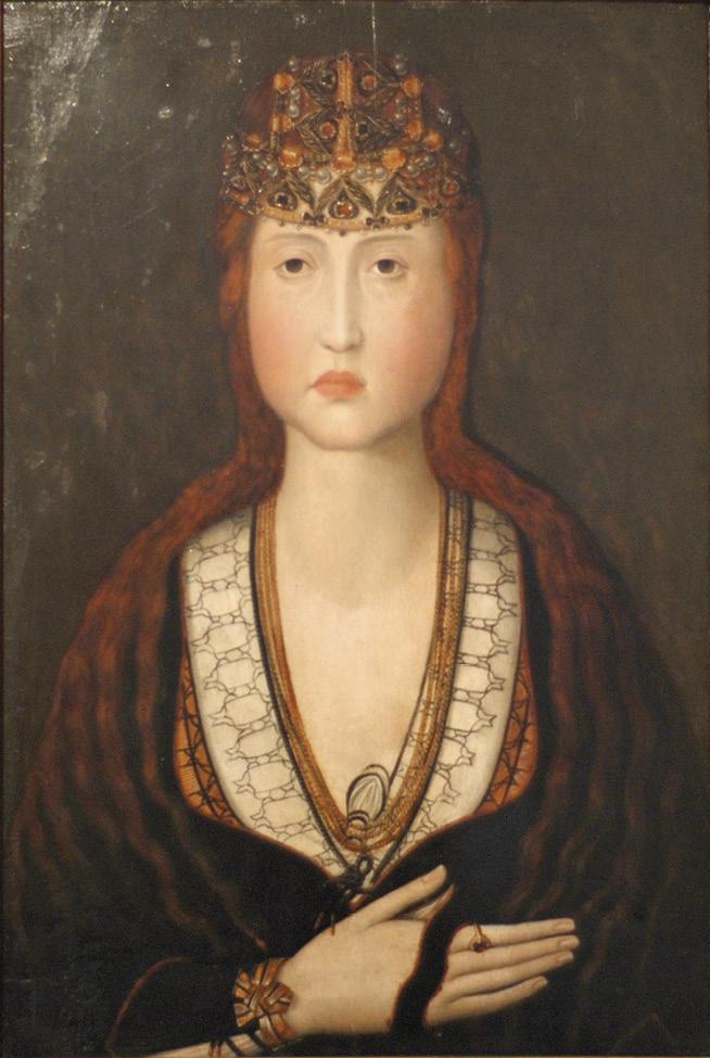 Retrato de Joana, Princesa de Portugal, autor desconhecido do sec. XV. Obra preservada no Mosteiro de Jesus, Aveiro, Wikimedia Commons.