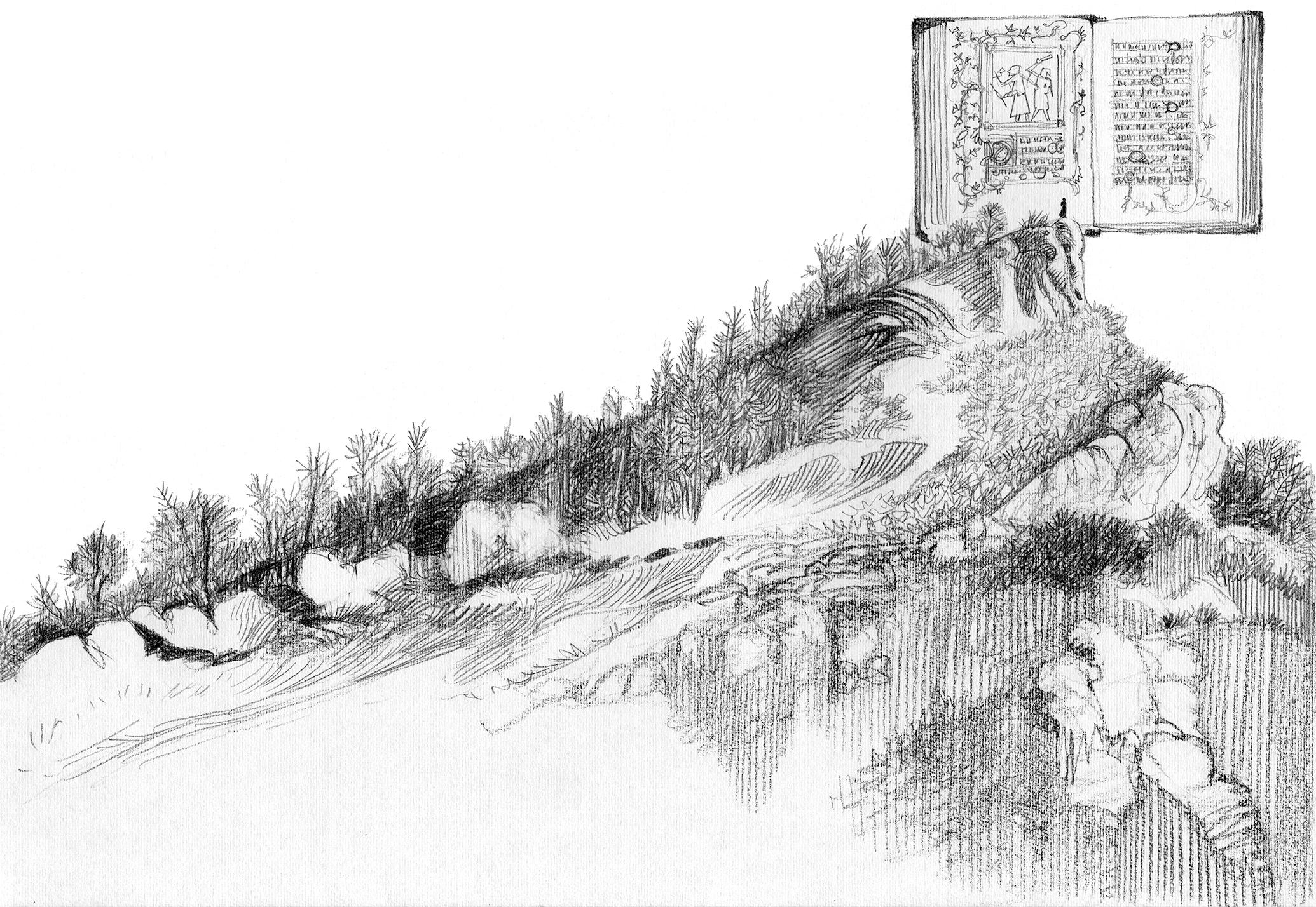 As palavras do silêncio. Ilustração: Luca Salvagno