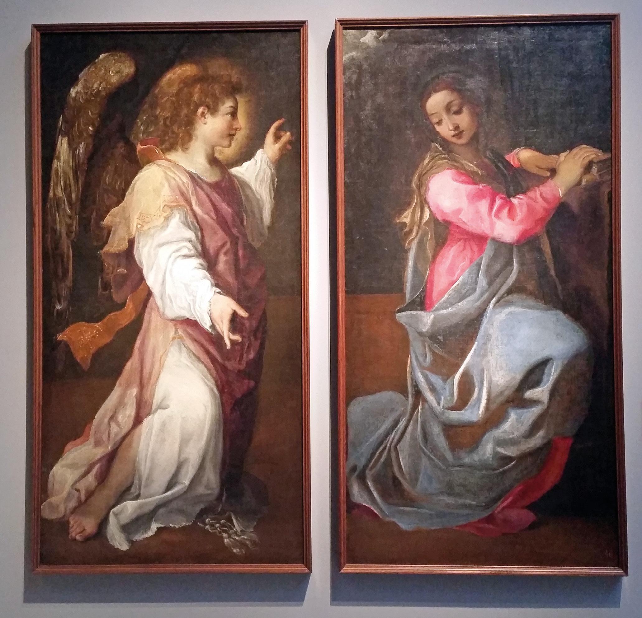 Anunciação do anjo Gabriel a Maria Óleo sobre tela de Annibale Carracci, sec. XVI, Pinacoteca Bacional de Bolonha. Commons Wikimedia.