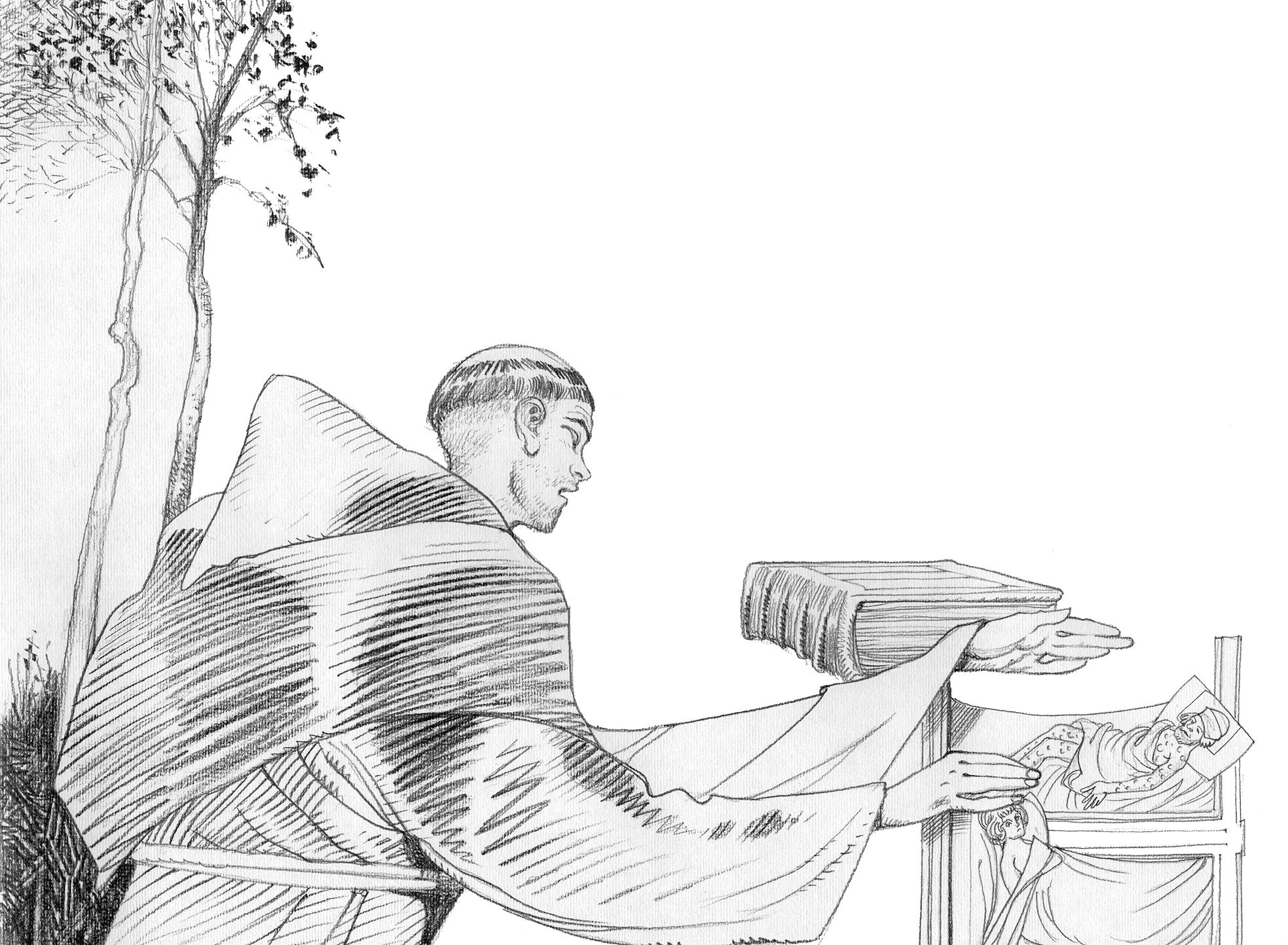 Santo António em MontePaolo, Ilustração de Luca Salvagno