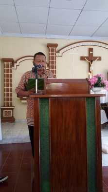 Pengumuman oleh Ketua Lingkungan, Bpk. Ambrosius Suwandri