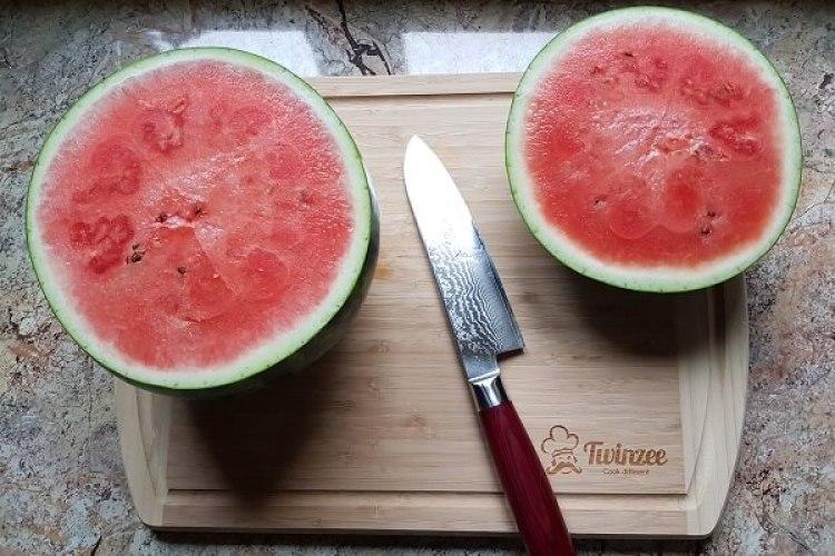 Wassermelone richtig schneiden