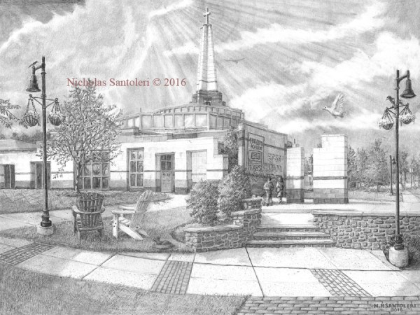 University Art Prints Episcopal Academy Pencil Drawing