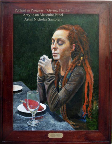 Giving Thanks Painting By Nicholas Santoleri in progress