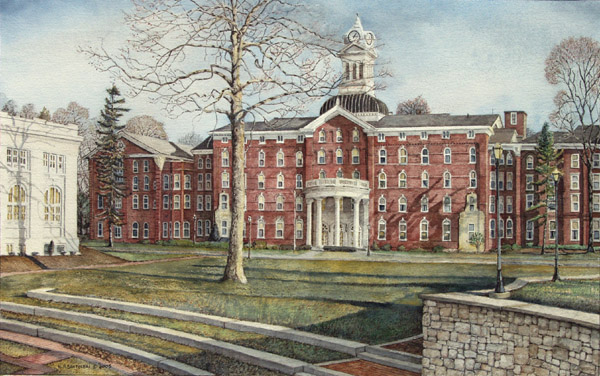 university art prints of Kutztown University by Santoleri