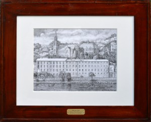 """Manayunk"" Original framed pencil drawing by Santoleri"