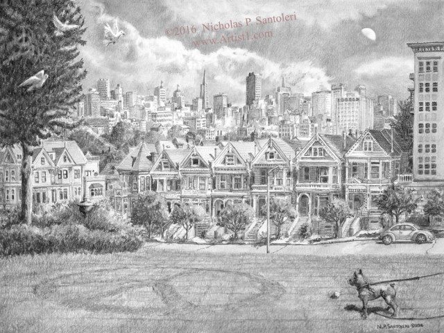 View from Alamo Square by Santoleri