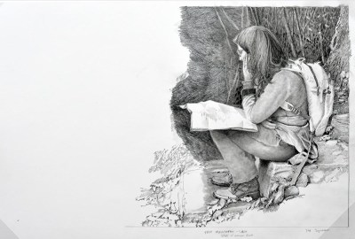"""Hiking the Wissahickon"" in Progress"