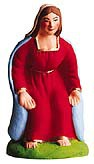 Vierge Assise (Advent Mary on stone Bench)