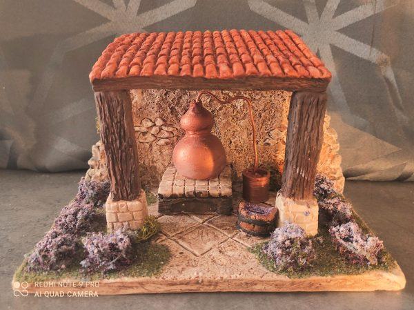 Alambic décor de crèche