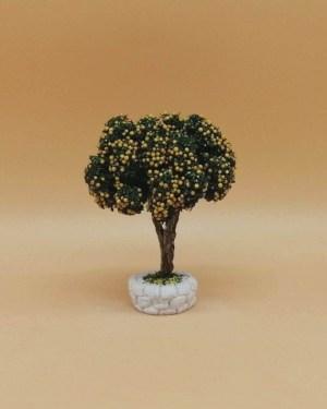 Arbre fruitier jaune santons de provence