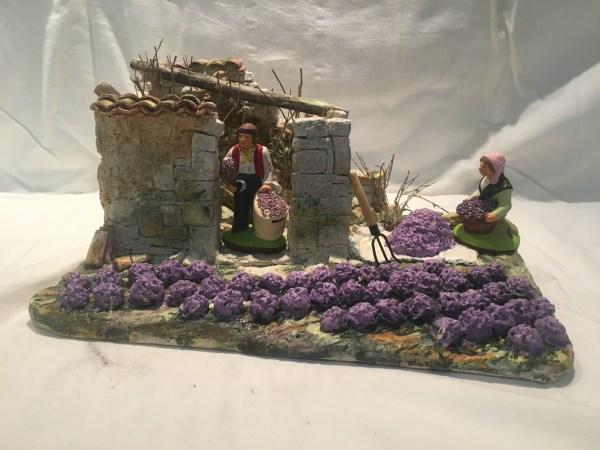 Champ de lavande santons de provence