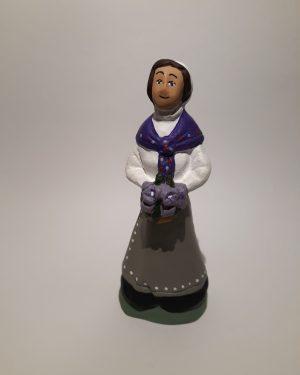 Dame aux iris santons de provence