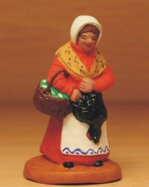 Femme à la poule santons de provence