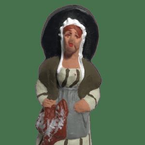 Femme aux poules santons de provence