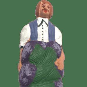 Porteur de lavandes santons de provence