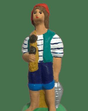 Pêcheur au filet santons Dusserre