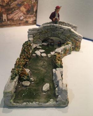 Rivière et le pont santons de provence