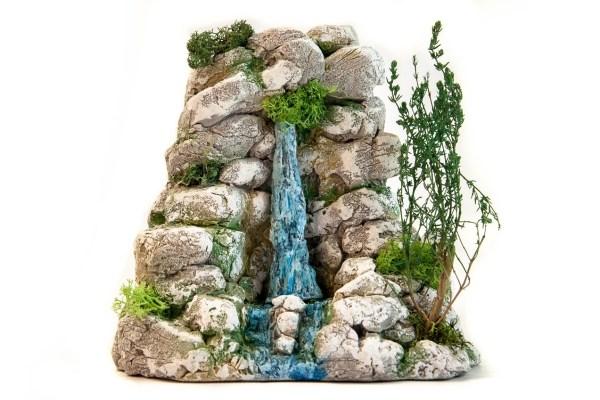 Cascade crèche provençale