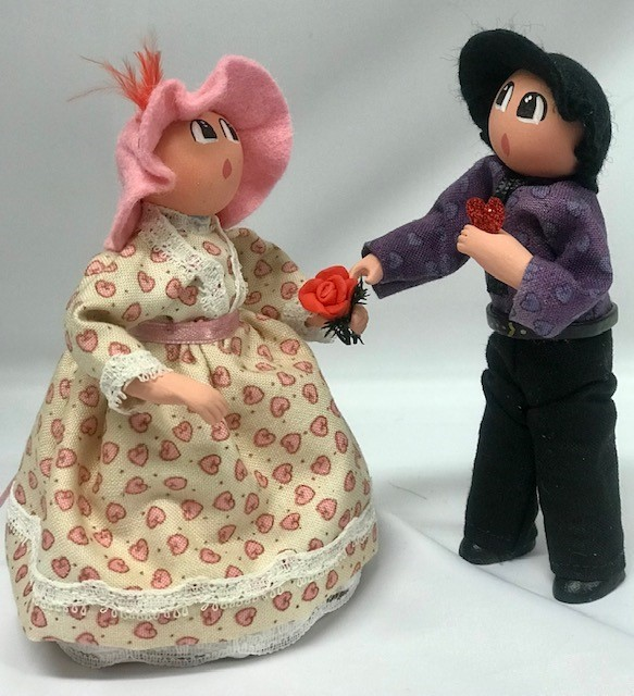 Couple Saint-Valentin rose