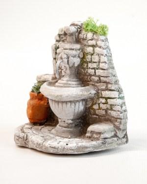 Fontaine plate crèche provençale