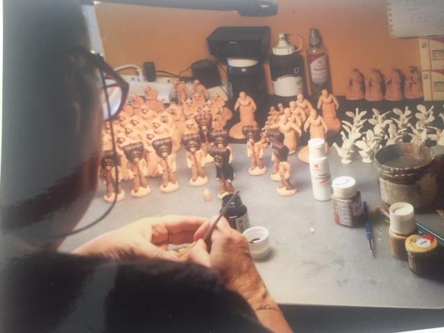 création artisanal santon de Provence
