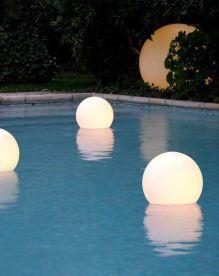 santorini pool lights
