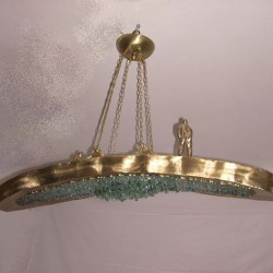 handcrafted bronze light