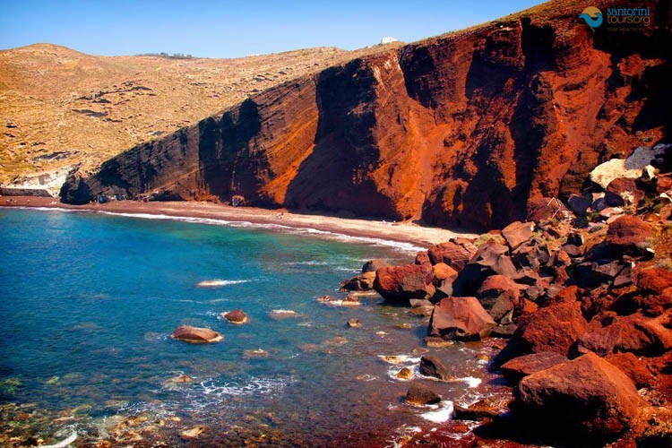 Red beach in the most most spectacular colorful beaches in the world