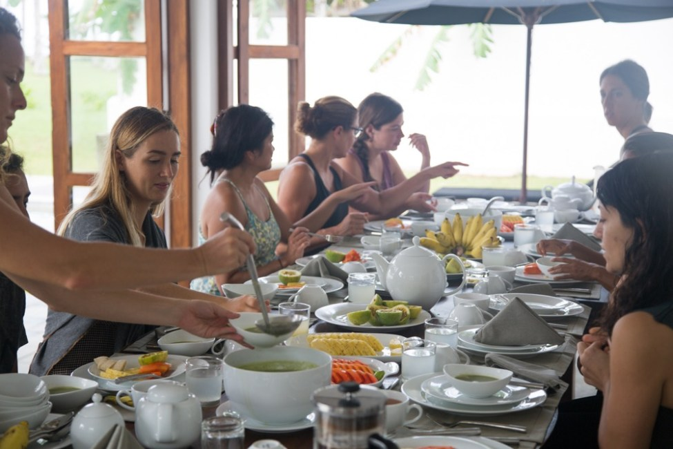 Santosha Society surf and yoga retreat food vegan