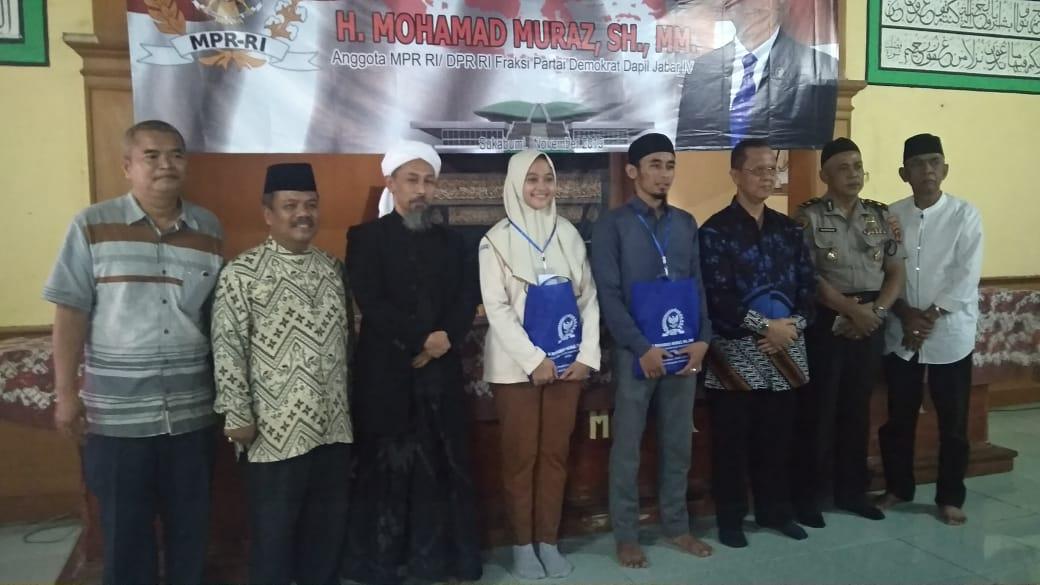 Anggota DPR RI Sosialisasikan 4 Pilar Kebangsaan di Pesantren Dzikir Al Fath Sukabumi