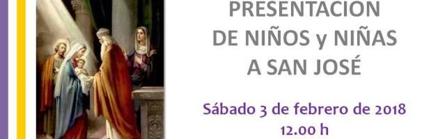 Presentación Niños y Niñas a San José