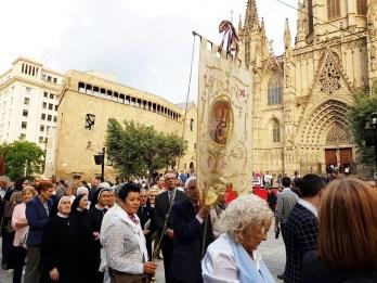 en la plaza de la catedral