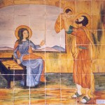 San José jugando con Jesús y María
