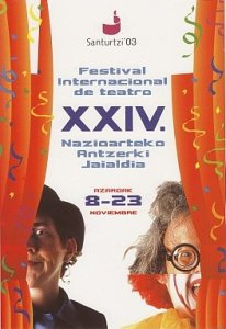 Cartel festival teatro 2003