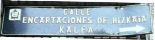 Calle Encartaciones de Bizkaia