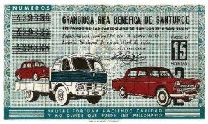 Billete Rifa abril 1962 (parroquias)