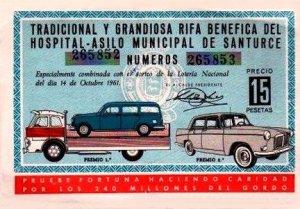 Billete Rifa octubre 1961