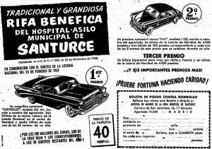 Propaganda de la rifa del día 25-2-1959.