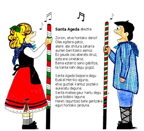 Letra Santa Agueda