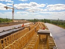 Vilniaus vakarinio aplinkkelio viaduko statybai panaudota moderni MiTek klojinių sistema