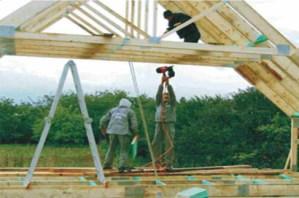 gyvenamojo namo mansardinio aukšto santvarų montavimas-projektai-santvaros.lt