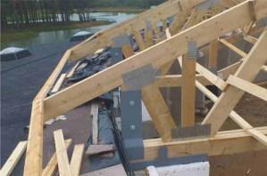 medinio sandėlio santvarų sujungimai mitek plokštelėmis-projektai-santvaros.lt